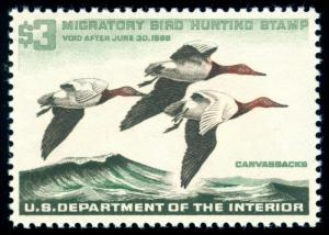 MOMEN: US STAMPS #RW32 MINT OG NH DUCK XF+