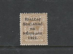 Ireland 1922 Opt Type 2 1/- MM SG 15