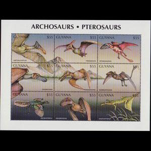 GUYANA 1998 - Scott# 3271 Sheet-Dinosaurs NH