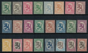 Finland #83-92, 94-102, 104-10* (106 is used)  CV $55.05