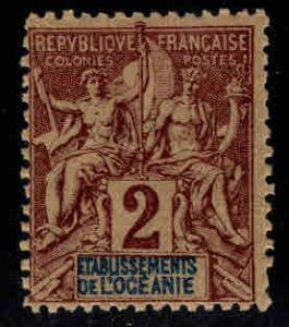 French Polynesia  Scott 2 MH* Navigation and Commerce stamp