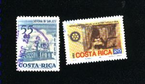 Costa Rica  2 different used PD