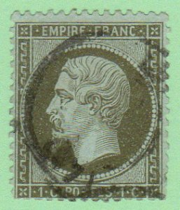 FRA SC #22 U 1862 Emp.Napoleon III w/blunt perfs @ B & LR CV $30.00