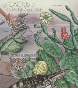 Burundi MNH S/S Cactus & African Fauna #2