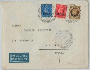 59457 - MEF British Middle East Forces - POSTAL HISTORY: COVER from ERITREA 1946