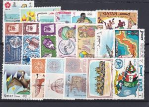 Qatar Mixture of 19 Unused Stamps,