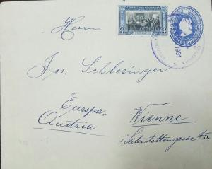 O) 1930 COLOMBIA, DEATH OF BOLIVAR 1830 4 CENTAVOS, POSTAL STATIONERY COLON 4 CE