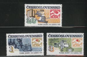 Czechoslovakia Scott 2426-2428 MNH** set