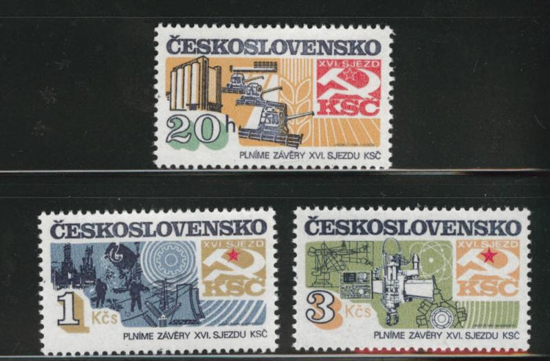 Czechoslovakia Scott 2426-2428 MNH** set