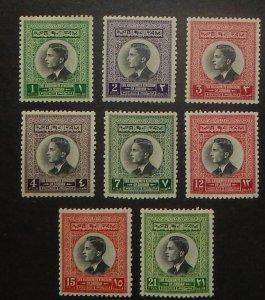 Jordan 352-59. 1959 1f-21f King Hussein