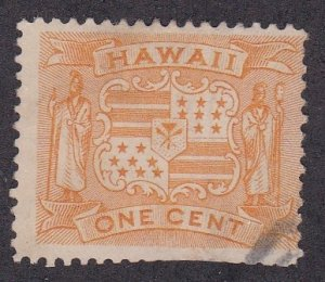Hawaii,  # 74,One Cent Coat of Arms, Used, Faulty, 1/3 Cat.