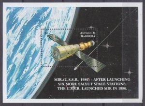 1999 Antigua and Barbuda 2934/B424 International Space Station Mir