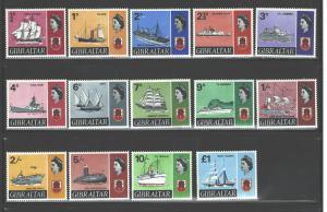 GIBRALTAR 1967-69 SHIPS #186-199 MNH