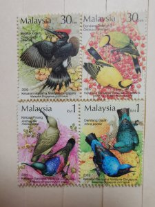 MALAYSIA 2002  MALAYSIA- SINGAPORE JOINT ISSUE - BIRDS IN FINE MINT CONDITION