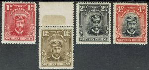 SOUTHERN RHODESIA 1924 KGV ADMIRAL 1D 11/2D 2D AND 4D */**