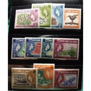 Pitcairn Islands, #20-30, MLH, Full Set of (11). CV $63.50