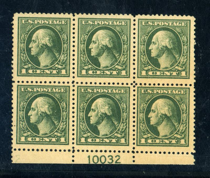 536 MINT Plate Block F-VF OG NH Right top corner stp crease Cat $400
