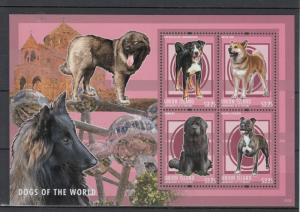 Union Island Grenadines St Vincent 2013 MNH Dogs of World I 4v M/S Akita Inu