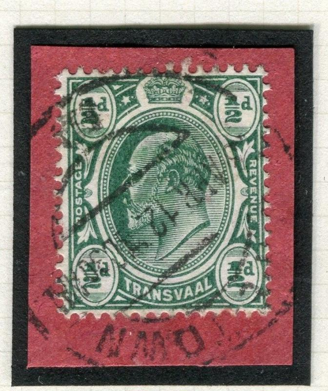 TRANSVAAL Interprovincial Period Ed VII CAPE TOWN Postmark on 1/2d. Piece