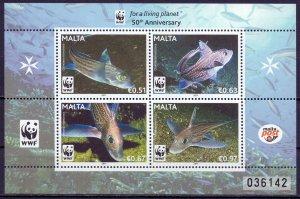 Malta. 2011. Fish. MNH.