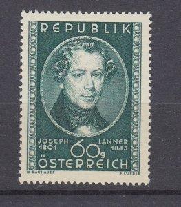 J29523, 1951 austria set of 1 mh #574 lanner music