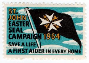 (I.B) Cinderella Collection : St John Ambulance Charity Label (1964)
