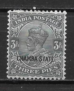 India Chamba 32 3a Edward VII single Unused Hinged