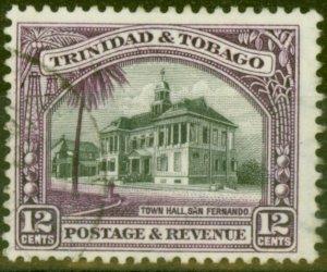 Trinidad & Tobago 1937 12c Black & Violet SG235a P.12.5 Fine Used