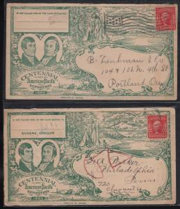 (10) USED LEWIS & CLARK EXPO 1905 PORTLAND, OR COVERS (SOME DUPLICATION) WL6335