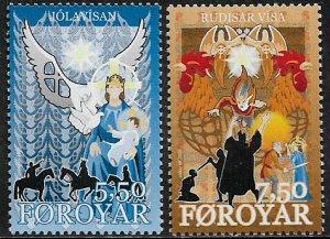 Faroe Is #465-6 MNH Set - Christmas Ballads