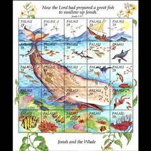 PALAU 1993 - Scott# 321 Sheet-Whale NH