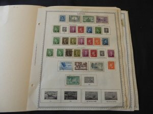 Canada 1943-1970 Stamp Collection on Album Pages