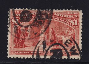 241 VF with neat cancel used sound with nice color cv $ 525 ! see pic !