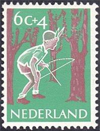 Netherlands # B337 mnh ~ 6¢ + 4¢ Child Playing Indian