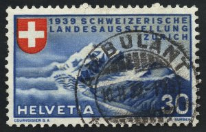 01889 Switzerland Scott #252 Zurich Mountains used, SOTN CDS handstamp cancel