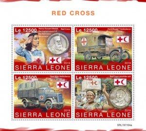SIERRA LEONE - 2019 - Red Cross - Perf 4v Sheet - MNH