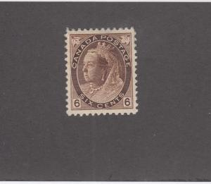 CANADA # 80 VF-MH 6cts BROWN NUMERAL ISSUE CAT VALUE $300