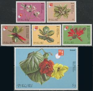 Palau #414-421 Flowers Set of 6 + 2 Souvenir Sheets MNH