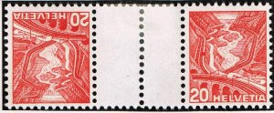 Switzerland Stamp tête-bêche gutter pair SELVAGE H/STAMPS MNH LOT #3