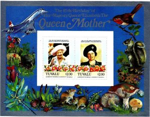 TUVALU - 1980 - Queen Mother, 80th Birthday - Perf 2x2v Sheets - M N H