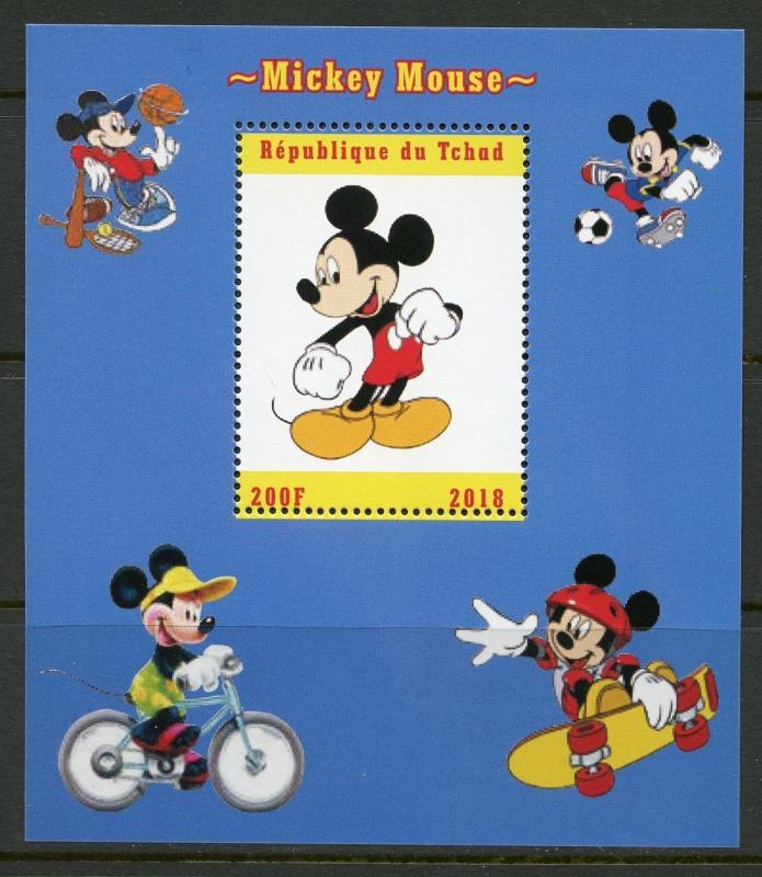 CHAD 2018 MICKEY MOUSE  SOUVENIR SHEET MINT NEVER HINGED