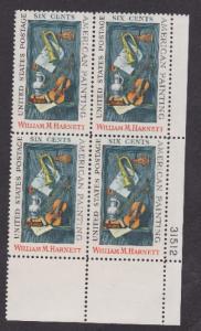1386 William Harnett MNH Plate Block  31512 LR