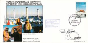 British Antarctic Territory FDC Sc 147 Signed Peter Jeffries Cachet South Ice...