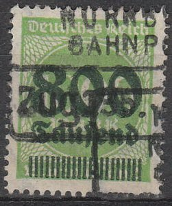 Stamp Germany Reich Mi 308 Sc 268 1923 Inflation Number Circle Overprint Used