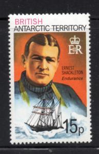 British Antarctic Territory Sc 56 1979 15 p Shackleton stamp mint NH