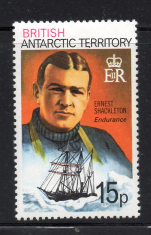 British Antarctic Territory Sc 56 1979 15 p Shackleton stamp mint NH