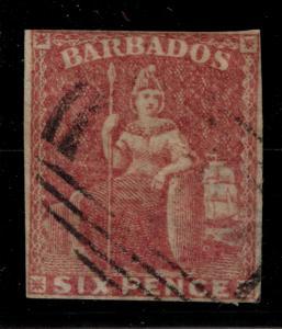 Barbados Stamp Scott #8, Used - Free U.S. Shipping, Free Worldwide Shipping O...