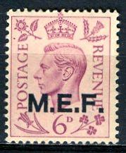 G. B. Middle East Forces 1943: Sc. # 6; **/MNH Single Stamp