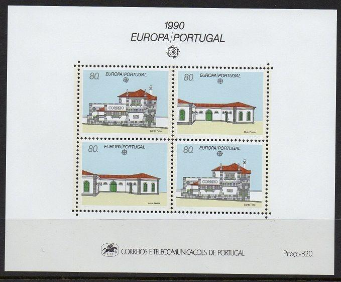 Portugal 1990 Europa Architecture SS VF MNH (1807)