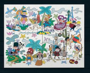 [22171] Belize 1985 Disney Christmas 30 yrs Disneyland Small World MNH